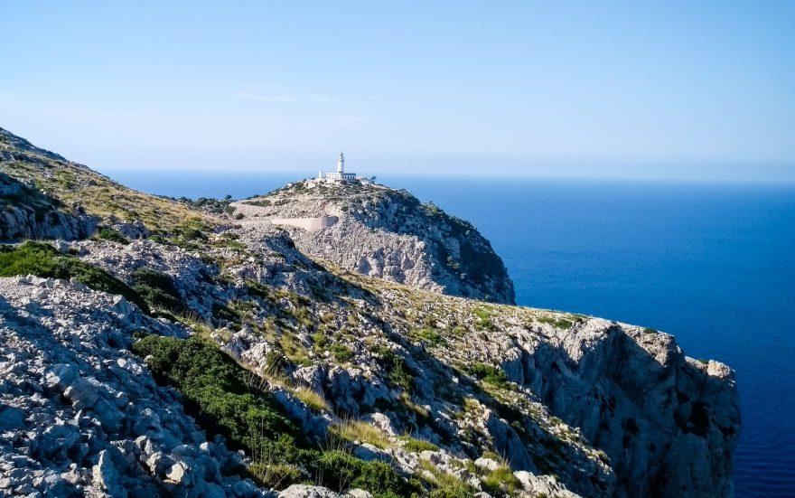 Mys Cap de Formentor, nejsevernější bod Mallorky.