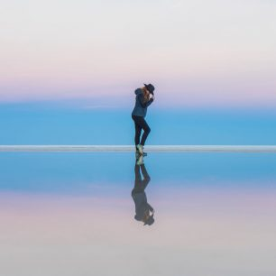 Největší slaná pláň na světě Salar de Uyuni, Bolívie