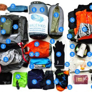 Petrův gear list na Appalachian Trail