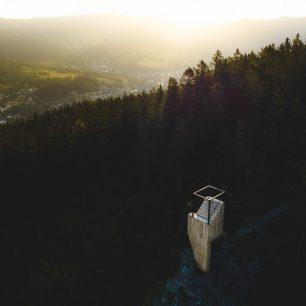 Vyhlídka Horník. Hlídka na Stráži, Rokytnice nad Jizerou, Krkonoše