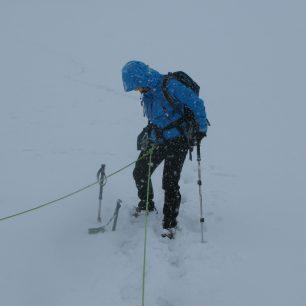 I takto může vypadat letní výstup na Grossvenediger 3666 m, Vysoké Taury, Rakousko.