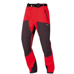 Kalhoty Mountainer Tech red-black.