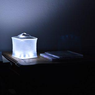 Takto svítí solární lampička Luna Cube LC1-L.