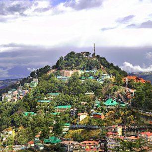 Hlavní město Shimla, Himachal Pradesh, Indie.