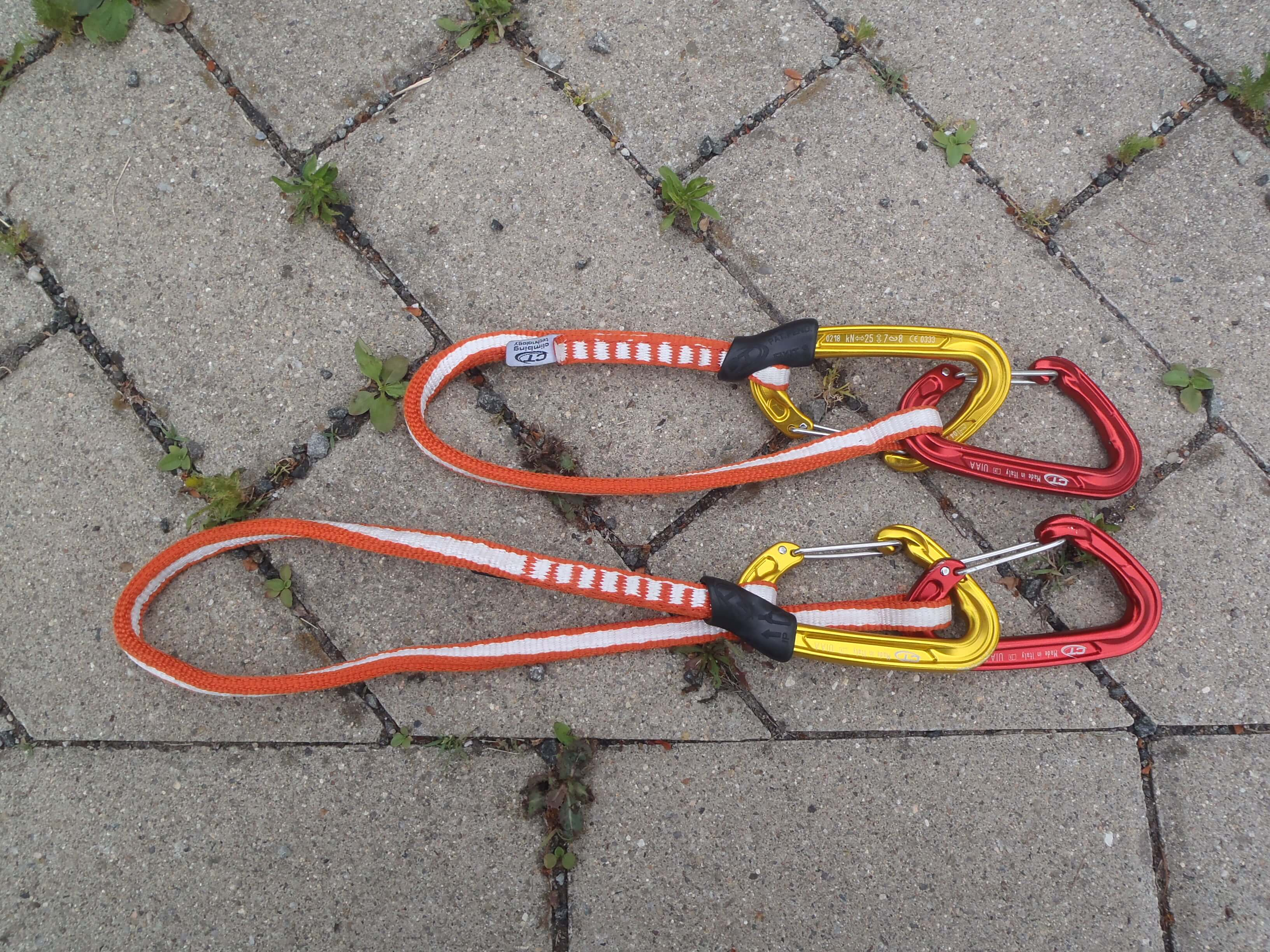 Zkrácené expresky Climbing Technology Fly-Weight Evo Long Set.