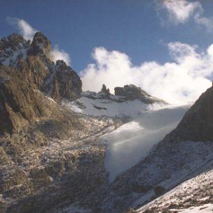 Ledovec na Mount Kenya