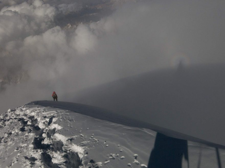 Radek Jaroš na sestupu z K2