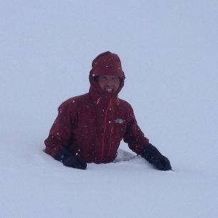 Simone Moro a sněžné potápění?
