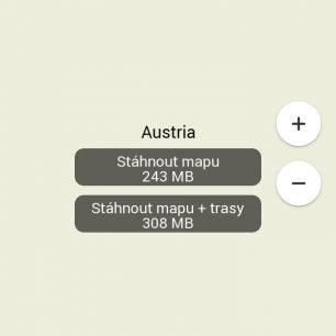 Pokud mapa chybí, nabídne vám aplikace její přímé stažení