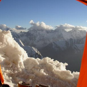 Pohled z Campu 2 (5800m)